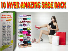 Amazing Shoe Rack 10 Layers Shoe Storage Organiser Portable Shoe Rack