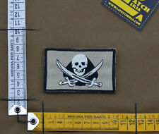 """Ricamata / Embroidered Patch """"TF45 Jolly Roger"""" Coy. Tan with VELCRO® brand hook"""