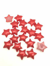 NEW Hot 100pcs 12MM Pentagon stars Glossy resin Scrapbook Craft Flatback DIY Red