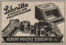 DÖBELN, Werbung / Anzeige 1940, Albert Polenz Schnitte Stanzen Presswerkzeuge