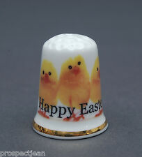 Happy Easter From The Trio of Chicks China Thimble B/128