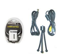 Battery + USB Cable + AV + Tripod for Casio EX-S10 EX-S12 EX-Z9 EX-Z19 EX-Z80