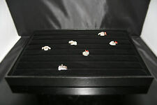 Large Black Velvet Ring Jewellery Display Box/ Tray Showcase UP TO 100 Pcs 1st