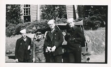 Post WWII USS Typhon sailord, jeep & Chinese or Japanese soldier, cop?  Photo