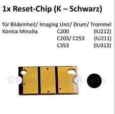 Reset Chip (K/Schwarz) für Imaging Unit Bildtrommel - Bizhub C200 C203 C253 C353