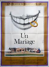 Affiche 120x160cm UN MARIAGE /A WEDDING 1978 Robert Altman, Vittorio Gassman TBE