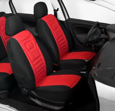 2 RED FRONT CAR SEAT COVERS PROTECTORS FOR SKODA CITIGO