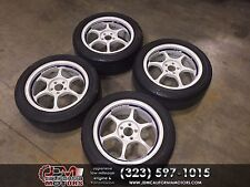 JDM ADVAN RACING RG2 WHEEL WITH DUNLOP TIRES