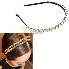 Spiked Headband Silver Spike Rivets Band Rock Chic Punk Gothic Goth Women Girls