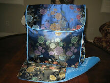 Boxy backpack diaper bag Kecci Frizzi Floral Blue New Flowers Convertible NEW