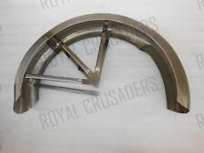 NEW TRIUMPH T90 PRE WAR REAR WITH STAYS MUDGUARD (FORK GIRDER MODEL) RAW STEEL