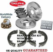 FOR SUBARU LEGACY 2.0DT + OUTBACK 08-2009 REAR DISCS + DISC PADS HANDBRAKE SHOES