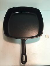 """Unique Square Skillet Marked Made In USA 10-1/4"""" Across Top Of Skillet"""
