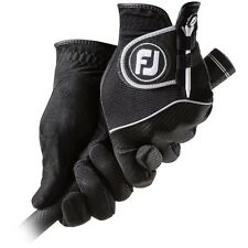 New FootJoy RainGrip Men's Golf Gloves Black Size Large L 1 Pair Rain Grip