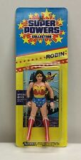 "1984 Kenner Super Powers ""WONDER WOMAN""  mint on ROBIN ERROR card DC Comics 8 bk"