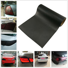 Car Rear Tailight Matte Black Vinyl Wrap Film Sheet Overlay Sticker 100cm x 30cm