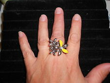 Paparazzi StretchBand Ring (new) BOUQUET OF BLING YELLOW