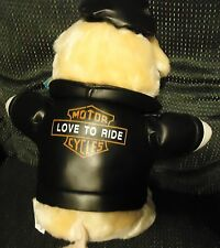 """BIKER PIG WITH LEATHER JACKET BY NYTE'S COLLECTION...SO CUTE..APPROX 14"""""""