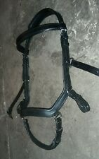 NEW! Cob Micklem style black leather comfort multiway bridle bitted/bitless rein