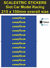 Slot car Scalextric stickers Model Race Goodyear Logo Lego decal adhesive vinyl