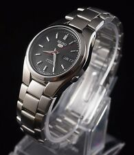 SEIKO 5 SNK607 Stainless Steel Band Automatic Men's Black Watch SNK607K1 New
