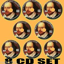 CLASSIC WILLIAM SHAKESPEARE MP3  AUDIO BOOKS 8 CDs TEMPEST MACBETH HAMLET ETC