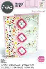 SIZZIX FRAMELITS CUTTING DIE SET - 560025 S BARNARD CARD TRIPLE PLAYFUL FLIP ITS