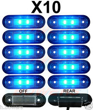 10x 12V/24V FLUSH FIT BLUE LED MARKER LAMPS/LIGHTS KELSA BAR TRUCK VAN LORRY