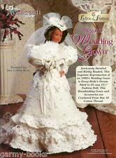 Megan's Wedding Gown Ladies of Fashion Crochet Dress Pattern for Barbie Doll NEW