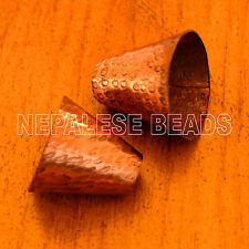 BD2646 Tibetan Nepalese Handmade Copper 2 Cone Beads from Nepal by Eksha Limbu