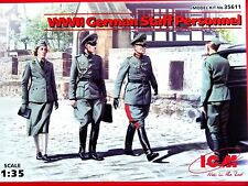 ICM Models 1:35 German Staff Personnel WWII Figures Model Kit