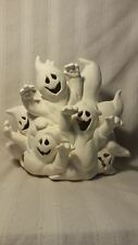 "Ceramichrome Halloween Ghost Stack 10"" x 9"" ready to paint ceramic bisque"