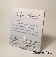 Splosh My Aunt Poem Gift Ideas for Her & Aunties Christmas Stocking Filler WF044