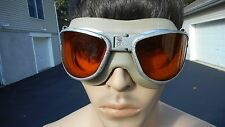 WWII AN6530  AAF FLIGHT GOGGLES  PILOT AVIATOR Amber Lenses New Strap