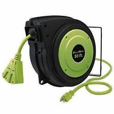 Legacy Flexzilla 50' Retractable 50 ft. Extension Cord Reel E8140503 ZillaReel