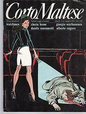 Rivista di fumetti CORTO MALTESE ANNO 1990 NUMERO 6 CON INSERTO WATCHMEN