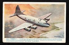 C1950s Illustrated View of Avro Tudor I. Aircraft in flight