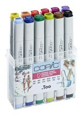 COPIC .TOO MARKER - 12 SUMMER COLOUR SET - TWIN TIPPED - 12 UNIQUE COLOURS