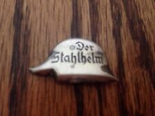 Der Stahlhelm Pin Silver Ton Ww2 Ww1 Badge German