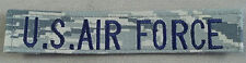 US Air Force ABU Digital Embroidered Cloth Name Tape With Hook & Loop Backing