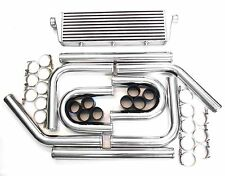 "2.25 "" 57MM intercooler universel kit complet 550x180x65MM B"