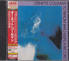 ORNETTE COLEMAN - to whom who keeps a record CD