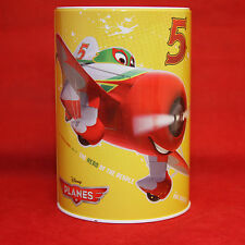 Disney #5 Planes Round Tin Bank Pixar Planes Round Tin Can Bank The Hero Yellow