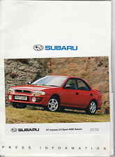 SUBARU 1997 PRESS FOLDER AND PHOTOS - IMPREZA TURBO/LEGACY/JUSTY  *POST FREE UK*