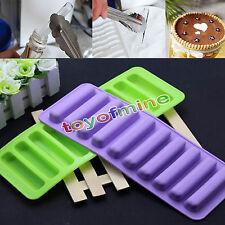 Silikon Zylinder Eiswürfelform Backform Eisform Eiswürfelschale Muffin Mould Neu