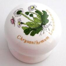 Chrysanthemum Flower & Ladybug Cabinet Knob, White Ceramic, Liberty P95813C-WC