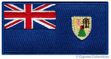 TURKS and CAICOS ISLANDS FLAG embroidered iron-on PATCH CARIBBEAN EMBLEM