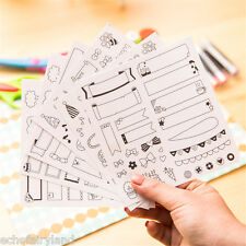 6Sheets/set Calendar Paper Sticker Scrapbook Diary Planner Notebook Label Decor