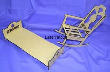 Wooden Elf on the Shelf ROCKING CHAIR & BED, accessory, Christmas, MDF, Lasercut