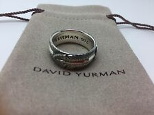 David Yurman Sterling Silver Frontier Feather Band Ring. size 9.5